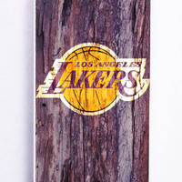 Wood Lakers Los Angeles Logo for Iphone 5C Hard Cover Plastic