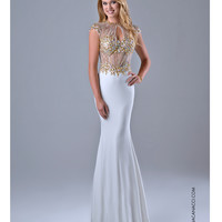 Nina Canacci 7526 Sexy Ivory Cap Sleeve Gown  2015 Prom Dresses
