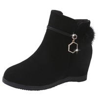 LENNIX LUCIANO Women's Suede Wedge Martin Boots