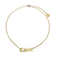 Caliente Nameplate Necklace