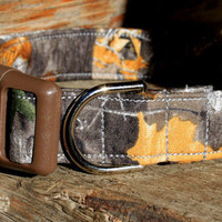 Fall Camouflage Dog Collar Size XS, S, M, L