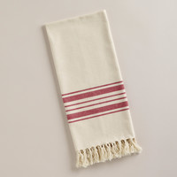 Red Villa Stripe Kitchen Tea Towel - World Market