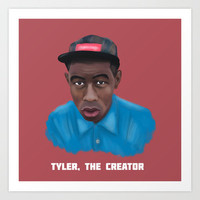 Tyler, The Creator  Art Print by TwO Owls