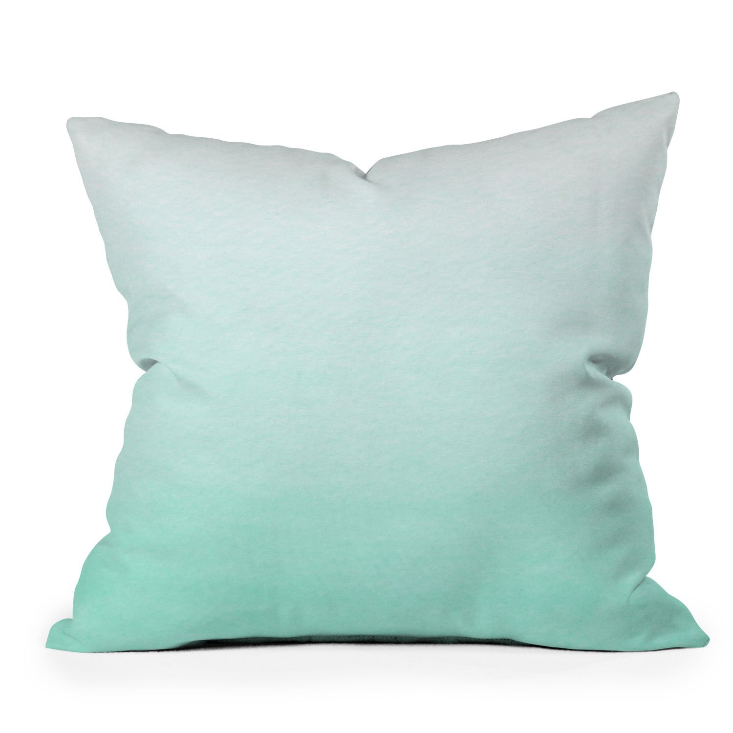 Image of Social Proper Mint Ombre Throw Pillow