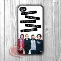 5 Seconds of Summer member with quote -Lx for iPhone 4/4S/5/5S/5C/6/ 6+,samsung S3/S4/S5,samsung note 3/4