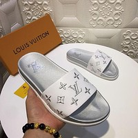 LV Louis Vuitton Leisure Slippers Shoes