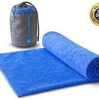 Premium Microfiber Towel for Travelers - Fast Drying, Lightweight, Super Compact - Repels Odors, Germs, and Dirt - Perfect Travel Towel for Backpacking Adventures