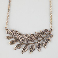 Full Tilt Large Leaf Necklace Gold One Size For Women 25144762101