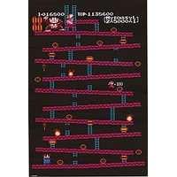 Donkey Kong Classic Video Game Poster 24x36