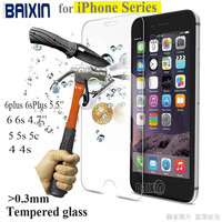 Tempered Glass Case Cover For iphone 4s 5 5s 6 6s plus screen protector protective guard film front case cover
