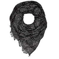 River Island Womens Black square textured scarf