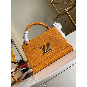 LV Louis Vuitton WOMEN'S LEATHER Twist One Handle Large SIZE SHOULDER BAG ORANGE