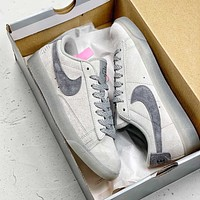 alwayn Nike Blazer SB x Reigning Champ retro versatile low-top sneakers shoes