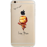 "Iron Man Jelly Clear Case for Apple iPhone 6/6s (4.7"")"