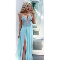 Sexy Prom Dress with Slit, Dresses For Graduation Party, Evening Dress, Formal Dress, DT0481