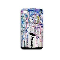 Water Color Rain Umbrella Beautiful Cute Phone Case iPhone Art Girly Girl Fun