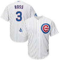 Men's Chicago Cubs David Ross Majestic White Home 2016 World Series Champions Team Logo Patch Player Jersey