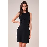 Twist Front Knit Dress