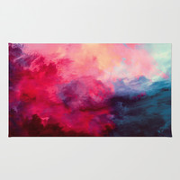 Reassurance Area & Throw Rug by Caleb Troy | Society6