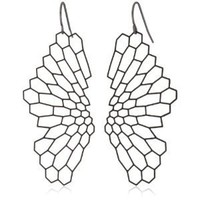 """Nervous System """"Radiolaria"""" Black-Plated Earrings"""