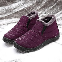 LOSTISY Women Snow Shoes Waterproof Keep Warm Comfy Ankle Snow Boots