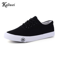 KALIWEI 2016 Spring Summer Women Student Movement White Canvas Casual Shoes Woman Lazy Low Nurse Shoe Lovers