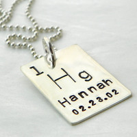 Personalized Periodic Table Element hand stamped by PunkyJane