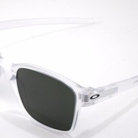 New Oakley Sunglasses Latch SQ Matte Clear w/Dark Grey #9353-07 New in Box