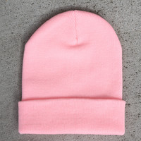 Solid Pink Beanie