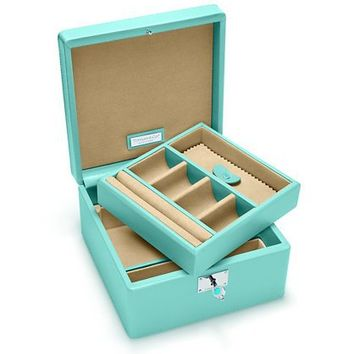 Tiffany & Co. | Item | Jewelry box in Tiffany Blue?- leather, small. More colors available. | United States