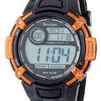 Armitron Orange and Black Men's Water Resistant Resin Strap Digital Sport Watch