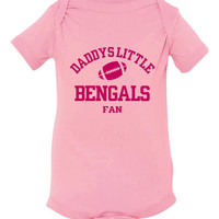 Daddys Little Bengals Fan Toddler And Youth T-Shirt Cincinnati Fans Printed Tee for Kids Creepers & T-Shirts. Makes a Great Gift!!