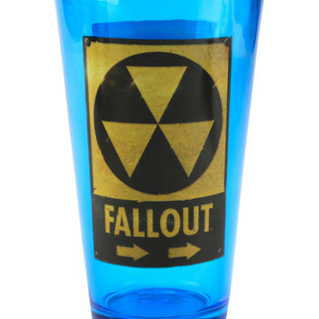 Fallout Blue Hazard Pint Glass