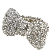 Blingy Bow Stretch Ring   Shop Jewelry at Wet Seal