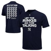 Majestic New York Yankees Rivalry Rings T-Shirt - Navy Blue