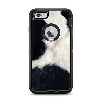 The Real Cowhide Texture Apple iPhone 6 Plus Otterbox Defender Case Skin Set