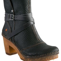 BLACK BUCKLE CLOG BOOT - THE ART CO