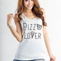 Pizza Shirt Workout Tank Top Funny Workout Tank Graphic Tee Teenager Girl Gift Tumblr Instagram Shirt Pinterest Hype Merch Cool Fashion