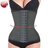 Women 4 Steel Bone Corset Slimming Waist training corsets Underbust cincher waist trainer body shaper Bustiers S-XXXL Black = 1930169348