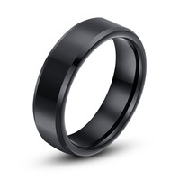 Free Shipping Super Deal Size 4-12 Black Tungsten ring Woman Man's Couple wedding Rings lovers birthday gift