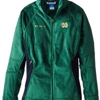 NCAA Notre Dame Fighting Irish Collegiate Pearl Plush II Fleece Jacket, Forest, Large