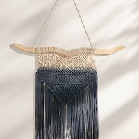 Rosa Ombre Macramé Wall Hanging   Urban Outfitters