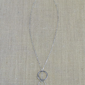 Layered Triple Hoop Necklace