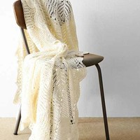 Crochet Throw Blanket- Ivory One