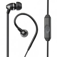 JLab Audio  FIT Sport Earbuds, Sweatproof and Water Resistant with In-Wire Customizable Earhooks - Black