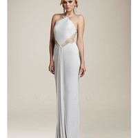Mignon VM949 Antique Ivory Fitted Illusion Low Back Prom Dress 2015 Prom Dresses