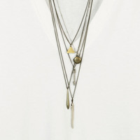 Little Gold Triangle - The GIZA necklace // Simple Geometric Necklace // Minimal Brass Necklace // Simple Bohemian Style