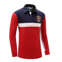Mens Fashion Long Sleeve Polo Shirt Spring and Autumn Men Brand Clothing Cotton Polo Plus Size M-XXL 55