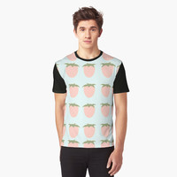 'Cute Strawberries' Graphic T-Shirt by ChessJess