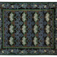 "8'x9'10"" Arts & Crafts Rug, Black, Area Rugs"